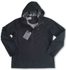 Abercrombie and Fitch Impermeable Lluvia Chaqueta Negra-Medio Rrp £ 120