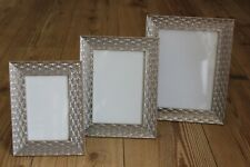 PHOTO FRAMES ,SILVER LEAF EMBOSSED PATTERN ,CHOICE OF THREE SIZES