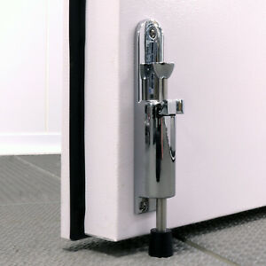 Kick Down Door Holder Catch Stopper, Heavy Duty, Polished Chrome Stainless Steel