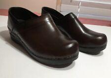 408-)Sanita Danish Clogs Original Brown Leather Women's Sz 8-8.5/39
