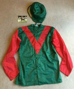 Racing Silks very probably worn by Lester Piggott complete with Cap & Photograph