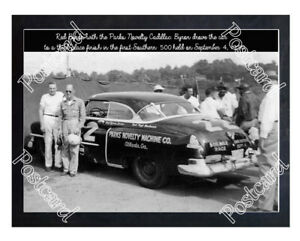 Historic Red Byron with the Parks Novelty Cadillac 1950 Postcard