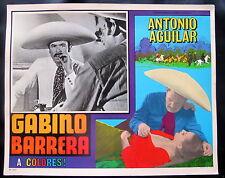 "ANTONIO AGUILAR ""GABINO BARRERA"" MARIA DUVAL N MINT LOBBY CARD PHOTO 1964"