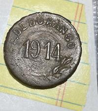 MEXICO DURANGO REVOLUTIONARY CRUDE 5 CENTAVOS 1914
