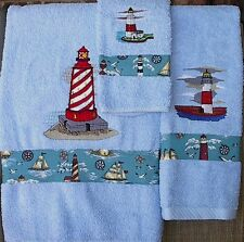 LIGHTHOUSE TOWEL SET (EMBROIDERED)
