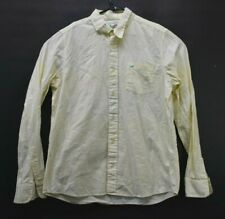 Vintage Rare Hollister Men's Xl Long Sleeve Button Up Shirt Yellow Neon Tag