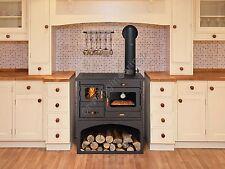 NEUF Poêle à bois cuisinière 10 kW fonte Supérieur brûleur foyer chauffage au