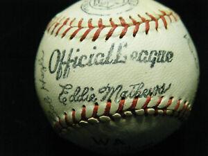 VINTAGE 1957 Milwaukee Braves WSC facsimile autographed Rawlings baseball