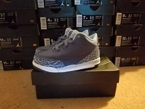 JORDAN RETRO 3 GT DARK PURPLE DUST ATOMIC PINK GIRLS TD SIZE 8  654964-506