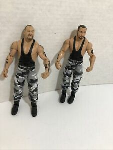 "2010 Mattel The Bushwackers Luke & Butch Elite Legends Wrestling 6"" Figures"