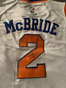 "MILES ""Deuce"" McBRIDE Signed NEW YORK KNICKS Rookie JERSEY Auto NICE! WVU Fast!"