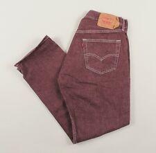 Vintage LEVI'S 501XX Maroon Regular Straight Mens Jeans 34W 32L 34/32 /J27025