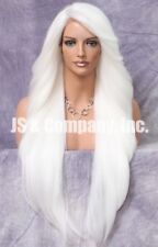 "38"" Long Lace Front Wig wavy bangs Hair Piece Fashion WEPC white"