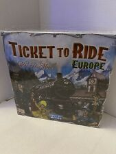 Ticket to Ride - Europe Board Game by Days of Wonder NEW Sealed Box Damaged Back