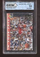 Michael Jordan 1992-93 Upper Deck #453 In Your Face Bulls GEM MINT 10