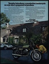 1976 YAMAHA RD400 Motorcycle VINTAGE AD