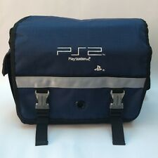 PS2 Playstation 2 Messenger Satchel Carry Bag Insulated Collectable Blue Black