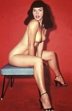 Bettie Page Beautiful nude girl pinup photo a6 10x15cm # 594