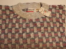Checkpoiint Women Sweater 100% Cotton Size L Made U.S.A. New