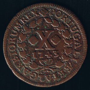 Portugal - 1743, 10 Reis - King JOÃO V - (1706 - 1750)