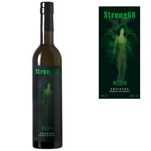 Absinth Strong68 (69,80€/l) | Mit Wermut Thujon | Ohne Farbstoff | Das Original