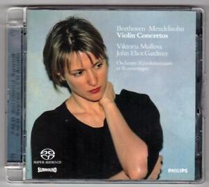 BEETHOVEN & MENDELSSOHN:Violin Concertos-Viktoria Mullova/Gardiner-ORR-SACD-RARE