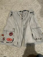 Vintage 90's JNCO Jeans Men's Khaki Cargo Skater Baggy Shorts Size 34 Camo