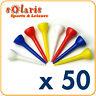 50 x Plastic Golf Tees 42 mm (1 5/8 in) Multi Colors