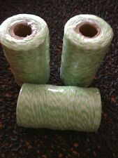 Bakers Twine Roll  Lime Green & White Twine 2mm 5 Meters Favours  DIY Craft