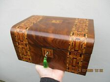 A Victorian Tunbridge Ware Inlaid Walnut Box c1870/80s