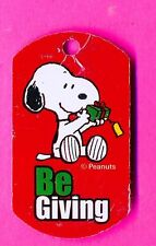 """Snoopy of Peanuts Gang - """"Be Giving"""" Christmas Key Chain (151)"""