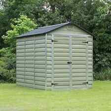 Plastic Skylight Garden Shed 6x8 Storage Palram Green Apex Windowless 6ft 8ft