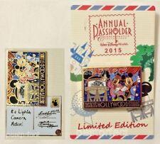 Disney LE Pin Hollywood Studios Postcard 2015 Passholder Mickey Minnie Earful