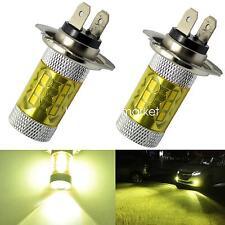 2x H7 Led Fog Light 60W Samsung 2323 Chip DRL Driving Running Bulbs 4300K Yellow