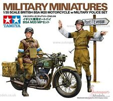 1/35 WWII British BSA M20 Motorcycle with Military Police Set by Tamiya 35316