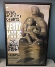 Royal Academy Arts London EXHIBIT POSTER HENRY MOORE Madonna & Child '88 Framed