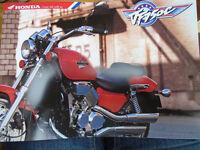Honda VF 750 C Motorcycle brochure Oct 1993 UK market