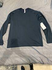 Nwt! Mens Lululemon Navy Ls Metal Vent Tech Shirt Xxl