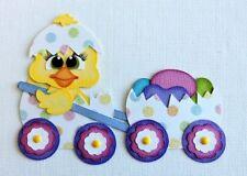 EASTER ~ Easter Wagon ~ Paper Piecing Die Cut Scrapbook ~  wollinart