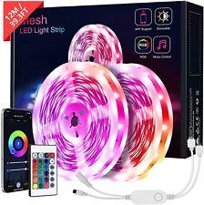 Bluetooth LED Strip Lights, KOOSEED 12M Mesh LED Lights 5050 RGB, APP Control