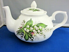 New listing Lily Of The Valley Fine Bone China Made England by Adderley Teapot 6 Cup 44oz