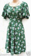 NEW LOOK SIZE 22 TEA DRESS 40'S 50'S WW2 LANDGIRL STYLE DITSY FLORAL US 18 EU 50