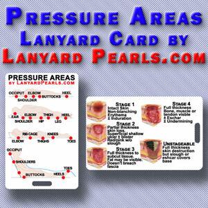 Pressure Ulcer Surveillance Tool & Grading Chart - Lanyard Badge Card
