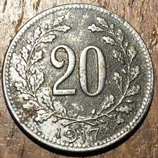 PIECE DE 20 HELLER AUTRICHE 1917 EN FER (377)
