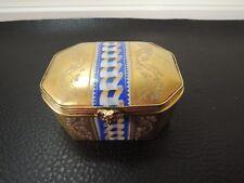 Antique French Sevres Trinket / Dresser Bronze Mount Box GILDED Porcelain
