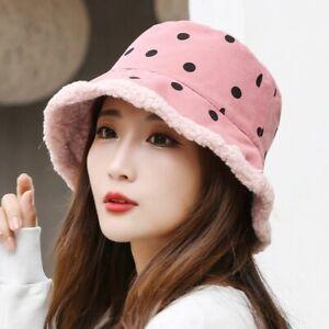 New Women Winter Warm Bucket Hats Outdoor Travel Casual Panama Fisherman Cap Hat
