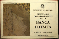 NL* ITALIA TRITTICO IN ARGENTO CENTENARIO FONDAZ. BANCA D'ITALIA FDC SET ZECCA