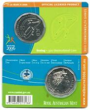 """2006 50 CENT MELBOURNE COMMONWEALTH GAMES IN CARD """"BOXING"""" COIN:UNC"""