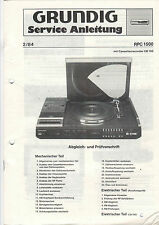 Grundig service INSTRUCTIONS MANUAL rpc 1500 b525