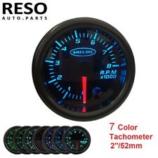 """2"""" 52mm 7 Color Tinted Tacho Gauge Pointer Universal Tachometer Meter 0~8 RPM"""